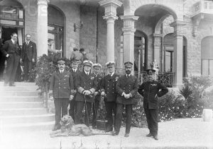 Admiral Beatty and Staff at Peace Conference