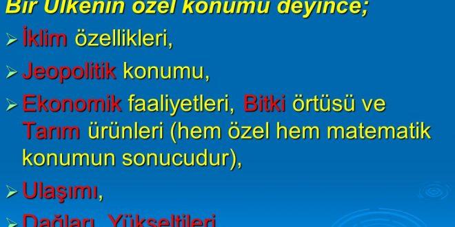 Türkiye'nin Özel Konumu Nedir
