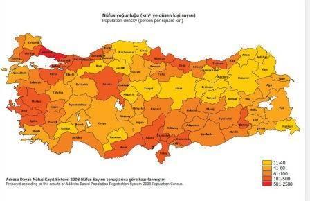 turkiye nufus yogunlugu haritasi 1