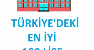 Türkiyenin En İyi İlk 100 Lisesi 2020