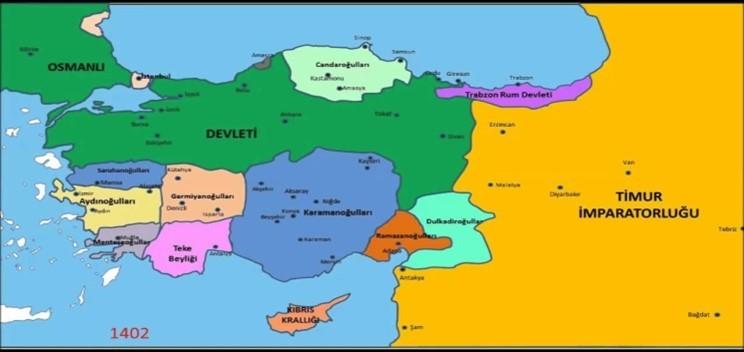 osmanli devletinin kisa surede buyuyup siyasi guc olarak ortaya cikmasinda etkili olan faktorler